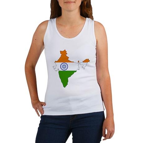 India Flag Map Women's Tank Top