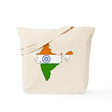 India Flag Map Tote Bag