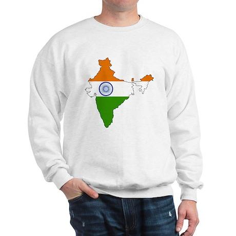 India Flag Map Sweatshirt