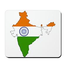 India Flag Map Mousepad