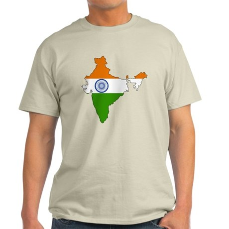 India Flag Map Light T-Shirt