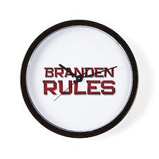 branden rules Wall Clock