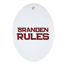 branden rules Oval Ornament