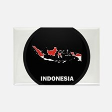 Flag Map of Indonesia Rectangle Magnet
