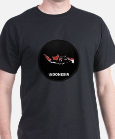 Flag Map of Indonesia T-Shirt
