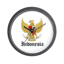 Indonesian Coat of Arms Seal Wall Clock