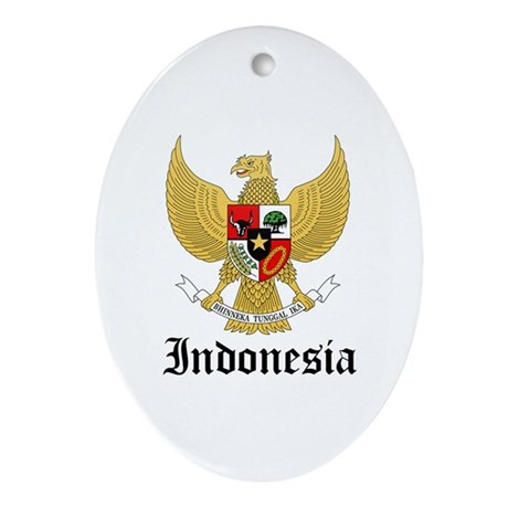 Indonesian Coat of Arms Seal Oval Ornament