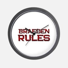 braeden rules Wall Clock
