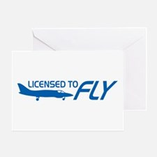 Licensed To Fly Pilot Greeting Card