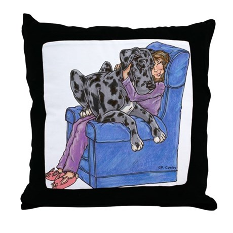 Throw Pillow On Chair : NMrl Chair Hug Throw Pillow by sixstardanes