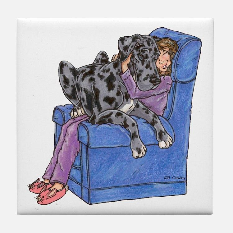 NMrl Chair Hug Tile Coaster