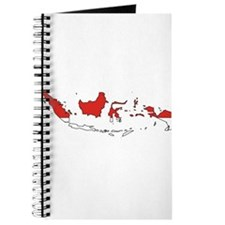 Indonesia Flag Map Journal