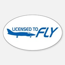 Licensed To Fly Pilot Decal