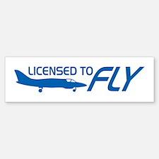 Licensed To Fly Pilot Bumper Bumper Sticker