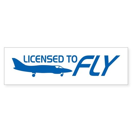 Licensed To Fly Pilot Sticker (Bumper)