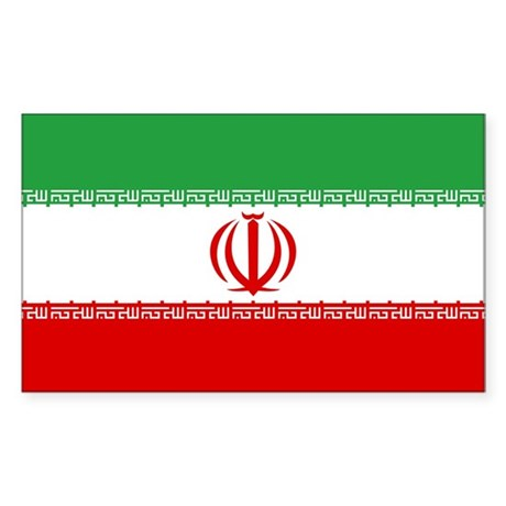 Iran Flag Rectangle Sticker