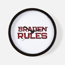 braden rules Wall Clock