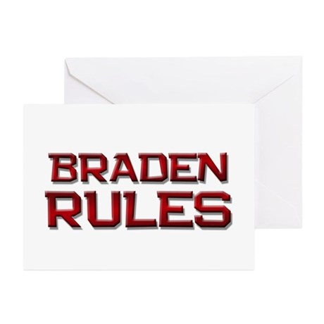 braden rules Greeting Cards (Pk of 20)