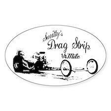Smitty's Drag Strip Oval Decal