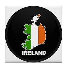 Flag Map of Ireland Tile Coaster