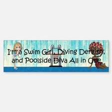 Swim Diva Car Car Sticker