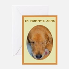 Mother's Day Golden Retriever Greeting Card