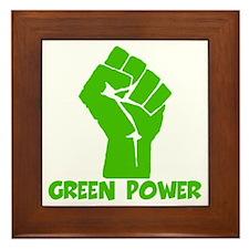 Green power Framed Tile
