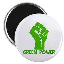 "Green power 2.25"" Magnet (100 pack)"