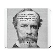 Positive Thinking William James Mousepad