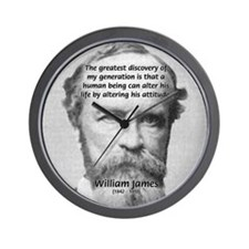 Positive Thinking William James Wall Clock