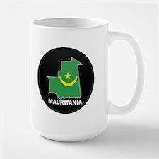Flag Map of Mauritania Large Mug