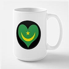 I love Mauritania Flag Large Mug