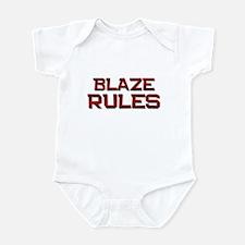 blaze rules Infant Bodysuit