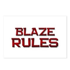 blaze rules Postcards (Package of 8)
