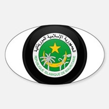 Coat of Arms of Mauritania Oval Decal