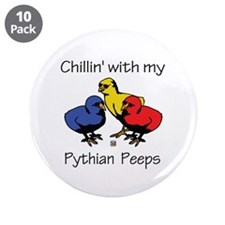 "Pythian Peeps 3.5"" Button (10 pack)"