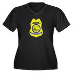 BLM Special Agent Women's Plus Size V-Neck Dark T-