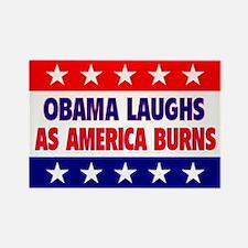 Obama Laughs Rectangle Magnet