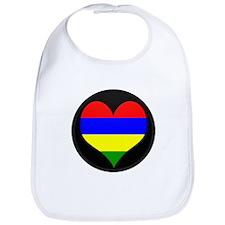 I love Mauritius Flag Bib