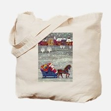 Vintage Christmas Santa Claus Tote Bag
