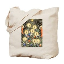 Vintage Christmas Tree Tote Bag