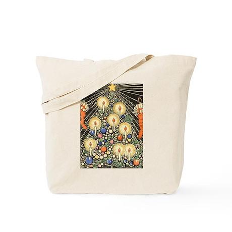 Vintage Christmas Tree Tote Bag