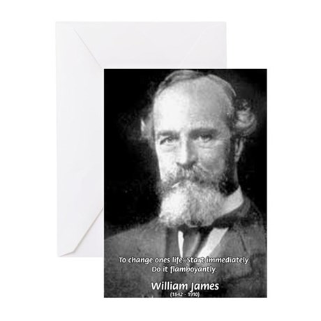 William James Life and Change Greeting Cards (Pack