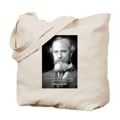 William James Life and Change Tote Bag