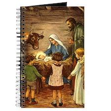 Vintage Christmas Nativity Journal