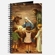 Vintage Christmas Nativity Journal