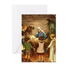 Vintage Christmas Nativity Greeting Cards (Pk of 1