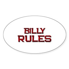 billy rules Oval Decal