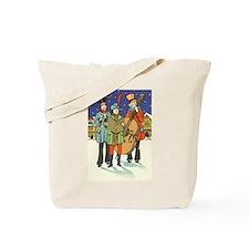 Vintage Christmas Musicians Tote Bag