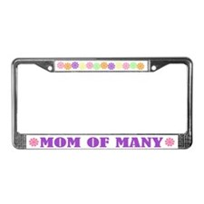 Mom Of Many License Plate Frame